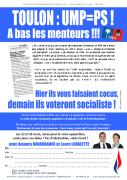 Départementales 2015 - L'UMPS à Toulon: à bas les voleurs !
