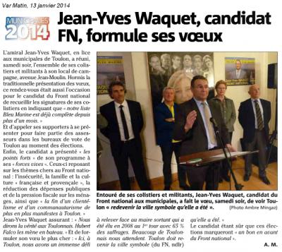 toulon,jean-yves waquet,municipales 2014,front national,rassemblement bleu marine